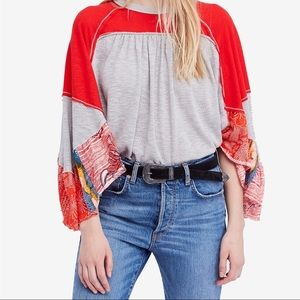 Free People Friday Fever Pattern Mix Dolman Top